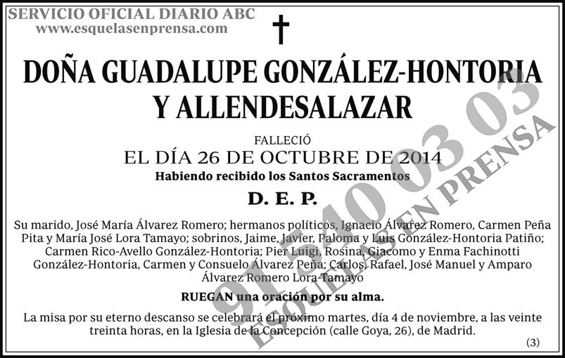 Guadalupe González-Hontoria  y Allendasalazar